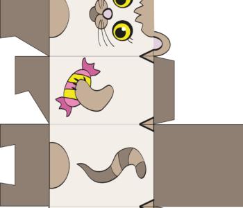 pudełko kotek do samodzielnego złożenia Zabawy plastyczne dla dzieci - MiastoDzieci.pl