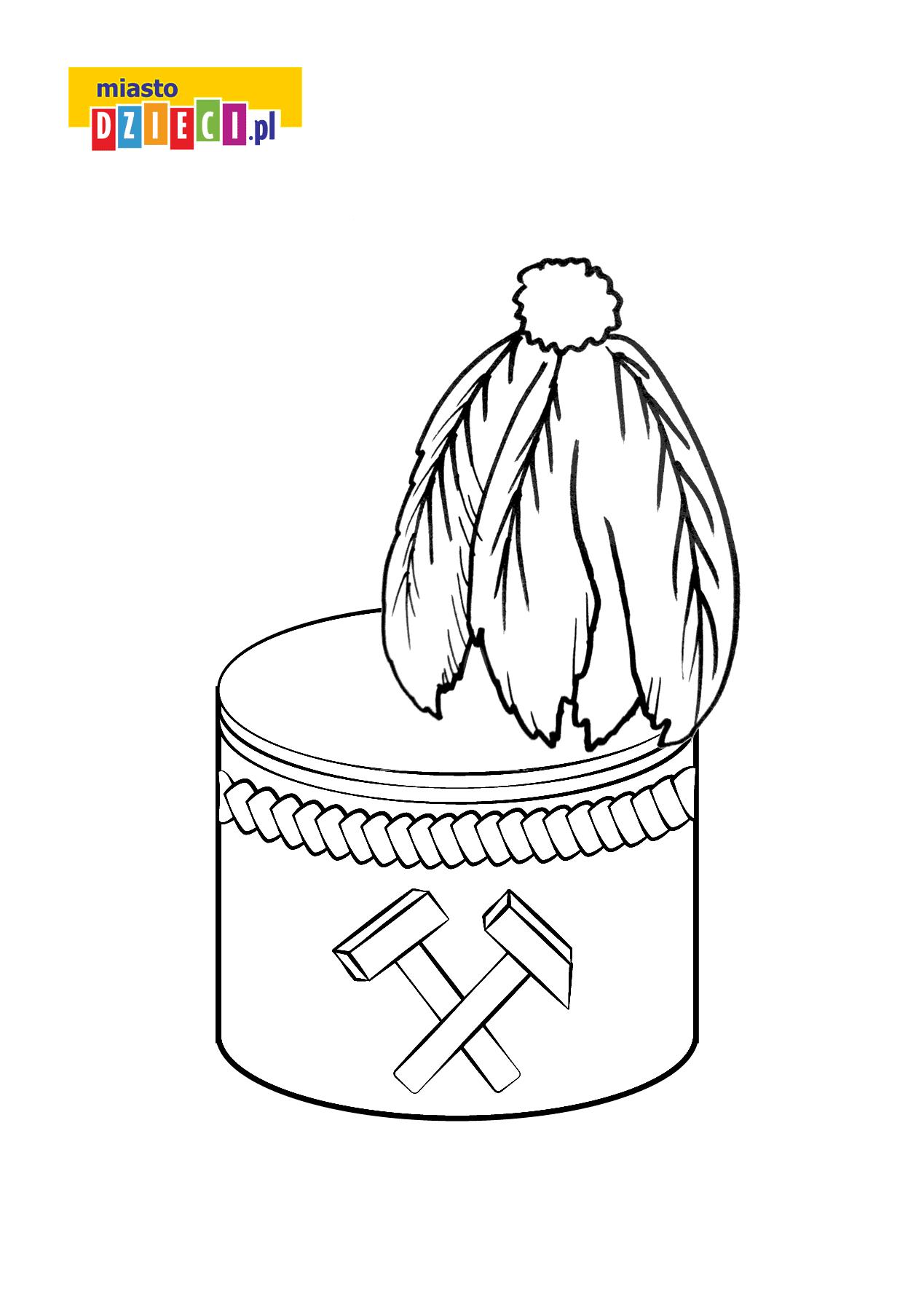 Kolorowanka Czapka Górnika
