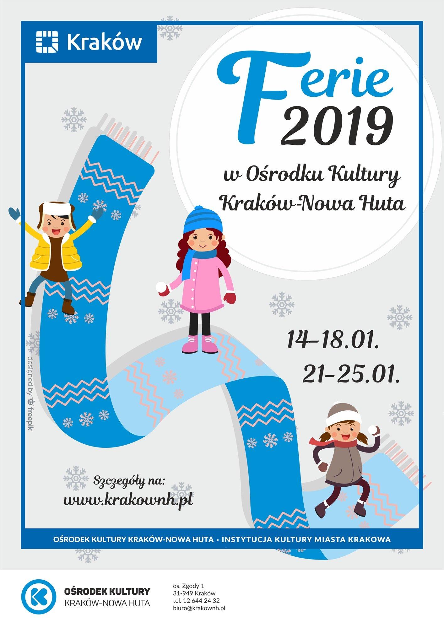 Ferie 2019 z Ośrodkiem Kultury Kraków - Nowa Huta