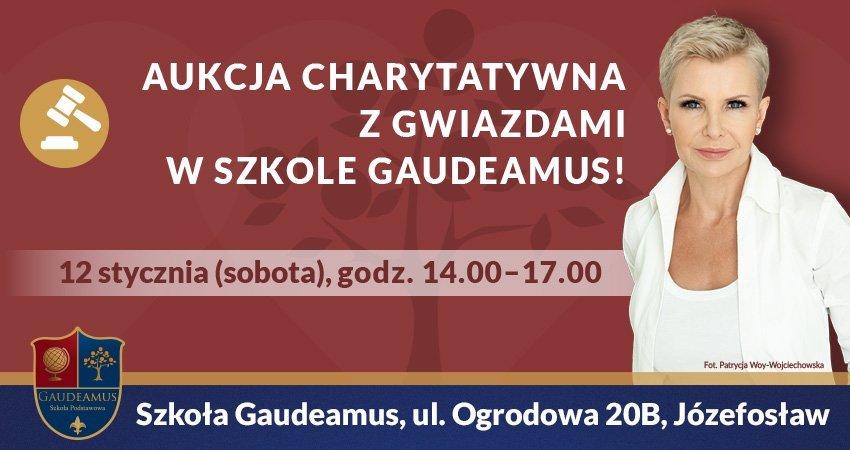 Aukcja charytatywna z gwiazdami w szkole Gaudeamus!