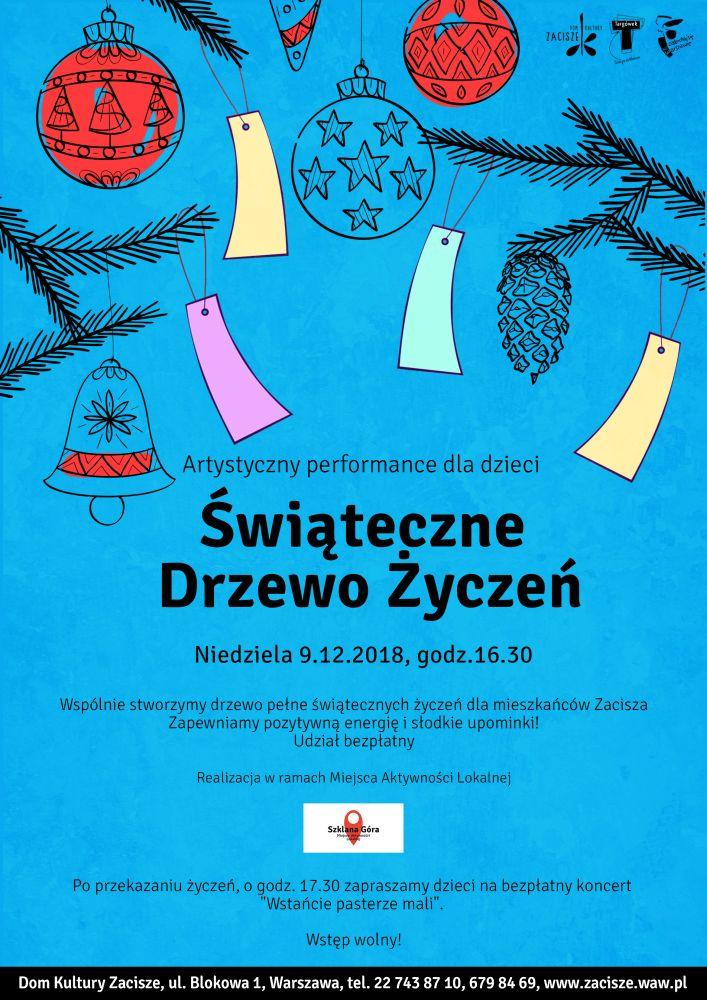 Świąteczne Drzewo Życzeń.