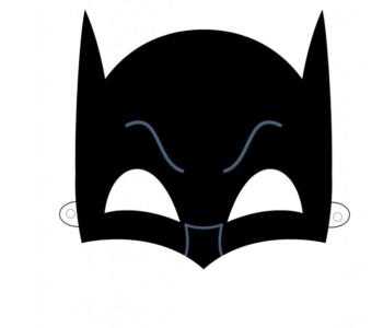 Maski Superbohaterów – Batman – szablon do druku