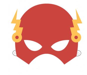 Maski Superbohaterów – Flash – szablon do druku