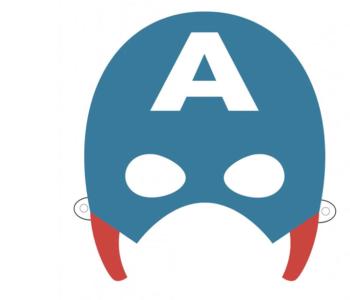 maska szablon do wydruku Kapitan Ameryka