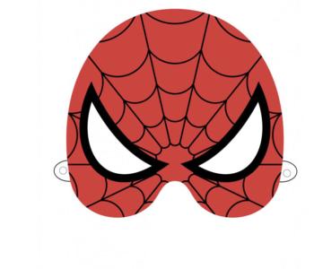 Maski Superbohaterów – Spiderman – szablon do druku