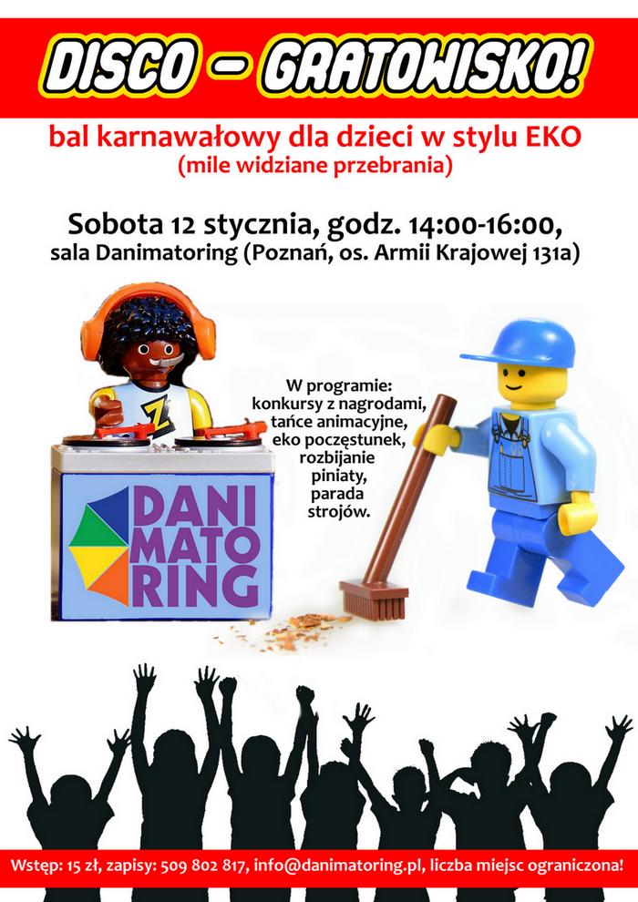 DISCO-gratowisko - bal karnawałowy dla dzieci w stylu EKO
