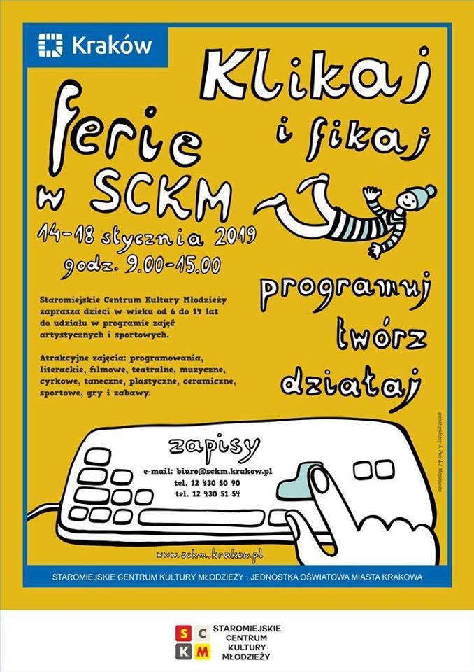 Klikaj i fikaj! Program ferii dla dzieci