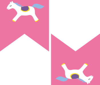 Różowa girlanda urodzinowa w koniki