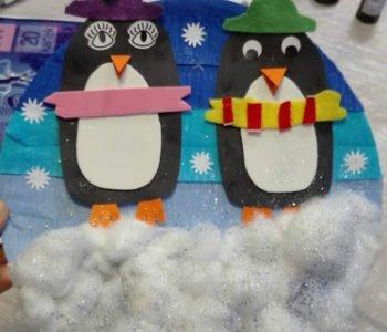 Warsztaty artystyczne – przestrzenny zimowy pejzaż