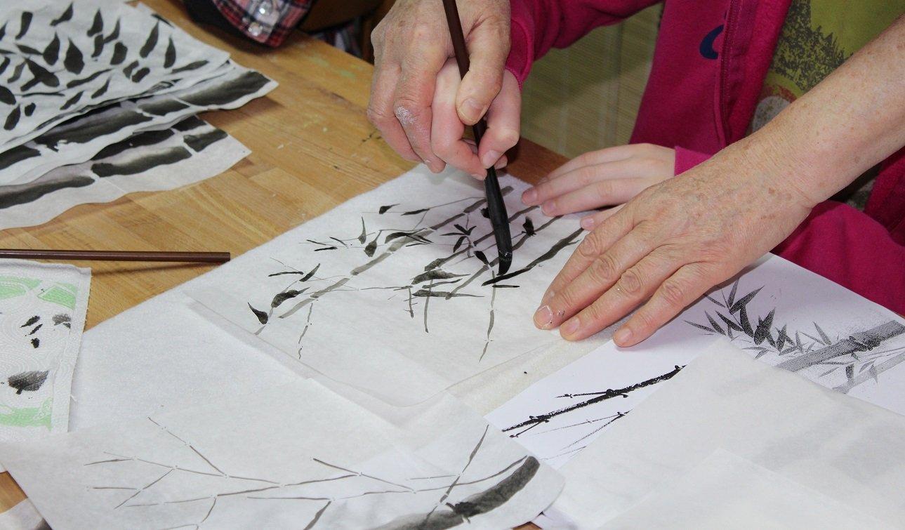 Suibokuga - warsztaty malarstwa japońskiego