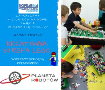 Kreatywna Strefa Lego w Hopsaska – zbieramy zapisy