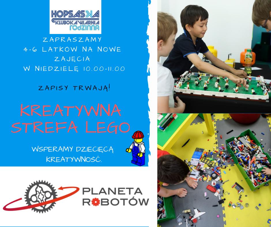 Kreatywna Strefa Lego w Hopsaska - zbieramy zapisy