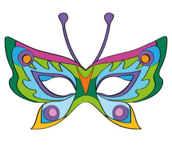 Maska motyla – zielona