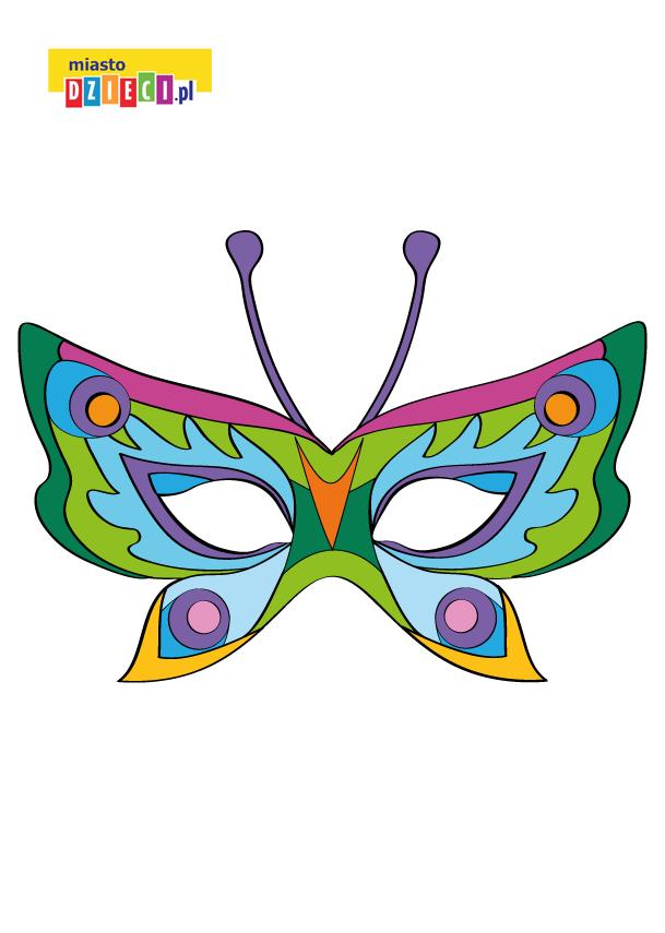 maska motyla dla dziecka maska do druku dla dzieci MiastoDzieci.pl