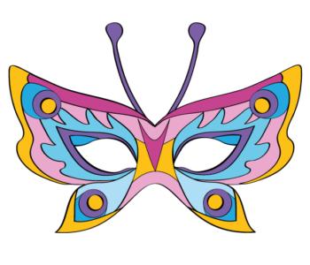 Maska motyla – różowa