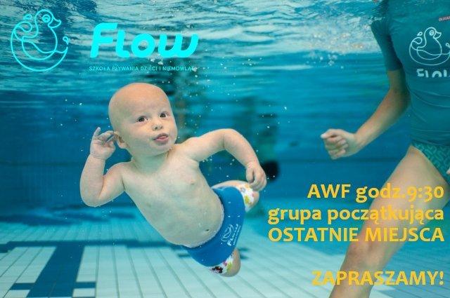 Ostatnie wolne miejsca na zimowy kurs pływania dla niemowląt