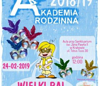 Akademia Rodzinna – Wielki Bal Karnawałowy