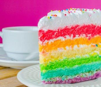 Przepis na tęczowe ciasto