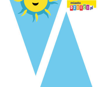 Niebieska girlanda w słoneczka
