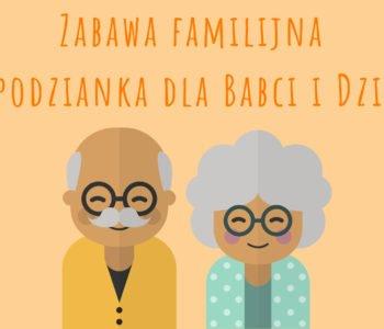 Zabawa familijna w bibliotece Babcia Dziadek 2019