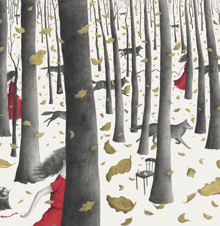 Biegnąc z wilkami - wystawa ilustracji