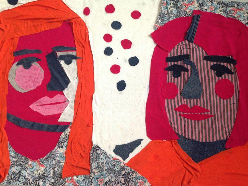 Patchworkowe podwójne portrety - warsztaty rodzinne