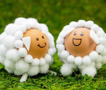 Śliczne pisanki owieczki