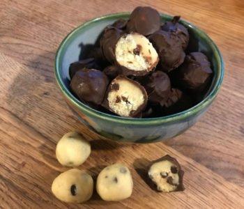 Przepis na trufle z surowego ciasta – cookie dough – z czekoladą