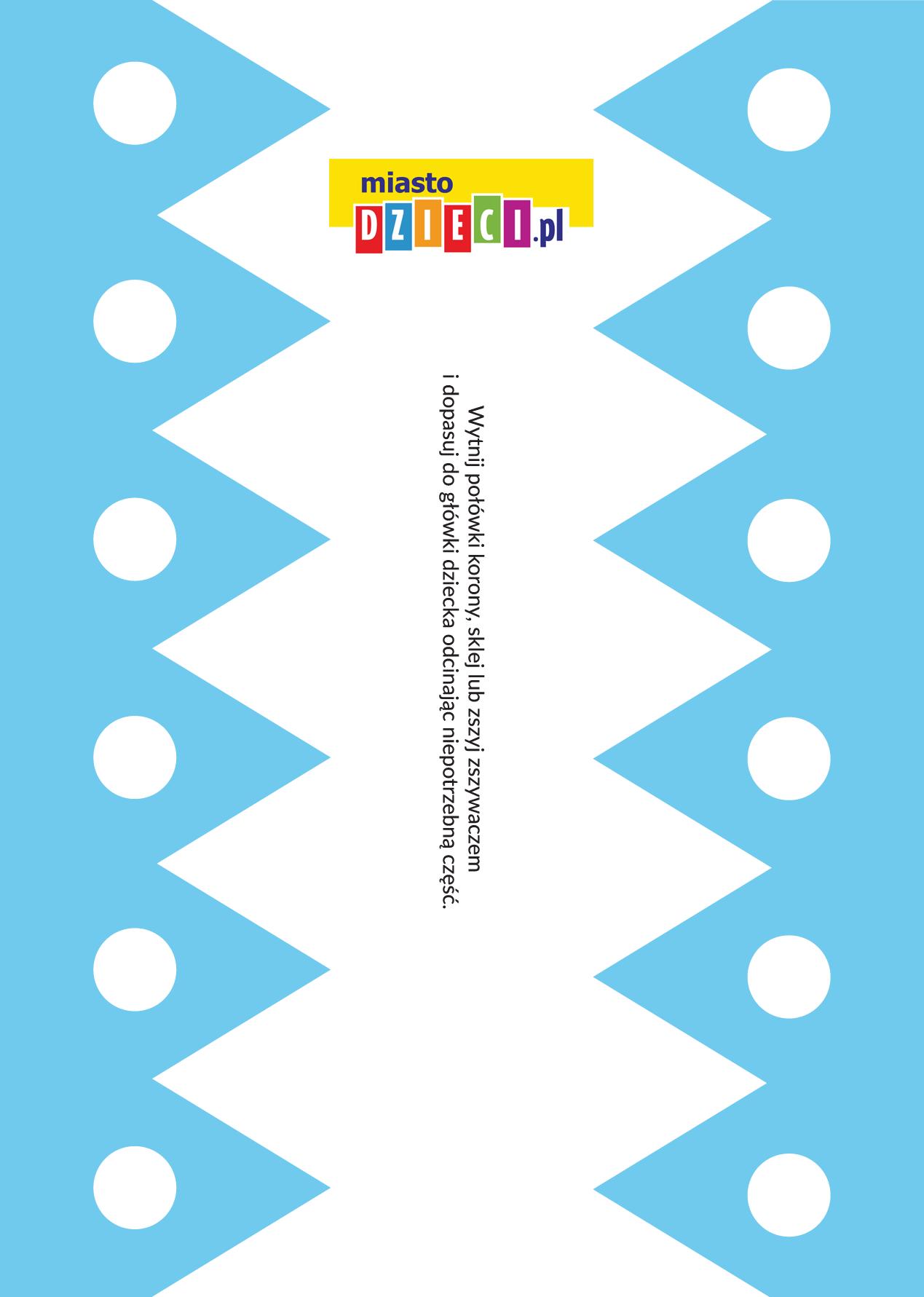 niebieska korona diy dla dziecka szablony do druku dla dzieci MiastoDzieci.pl