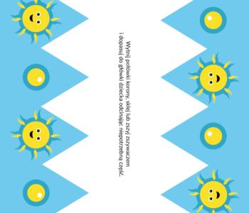 Niebieska korona w słoneczka