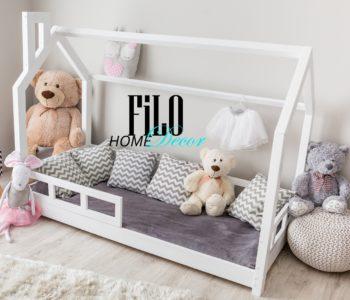 Łóżko domek z barierkami