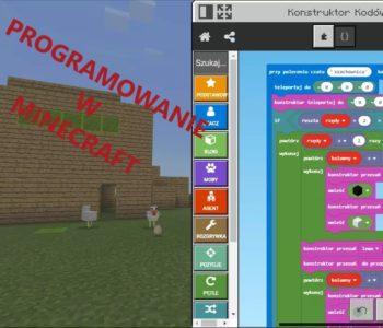Programowanie w Minecraft – warsztaty w Big Bang Studio