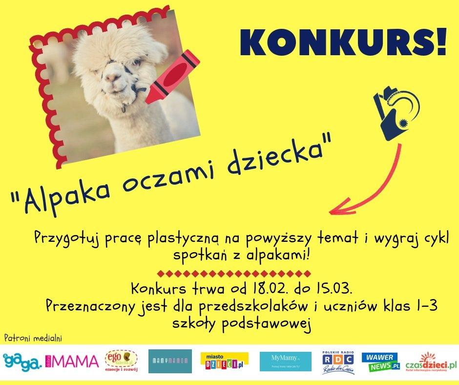 Konkurs dla szkół i przedszkoli: Alpaka oczami dziecka