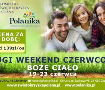 Długi weekend czerwcowy – Boże Ciało w Polanice