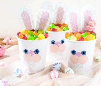 Wielkanocne zające – pudełka z cukierkami