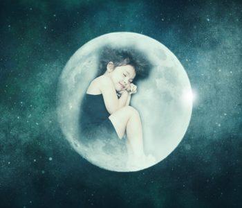 zmiana czasu - księżycowa dziewczynka