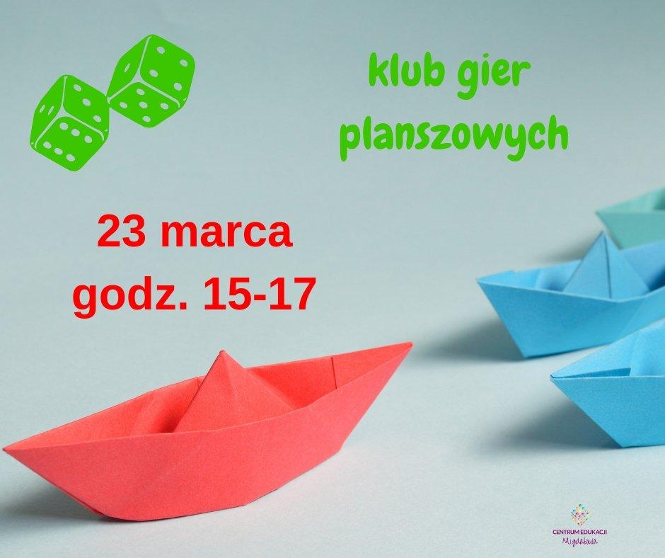 Dziecięcy Klub Gier Planszowych (Wiosenny)