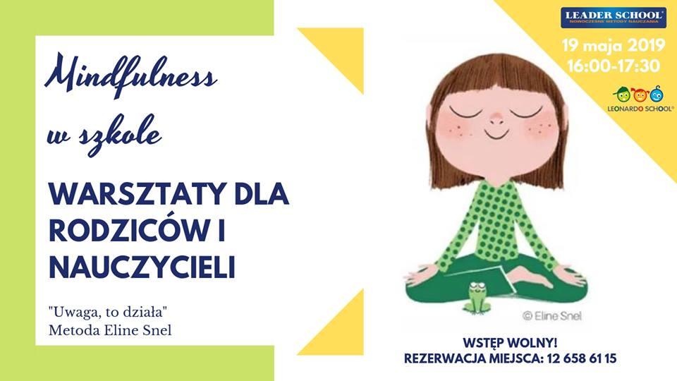 Bezpłatne warsztaty dla Rodziców i Nauczycieli - Mindfuless w szkole