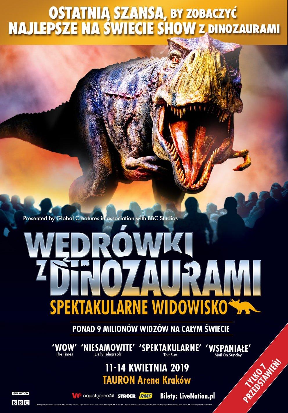 Wędrówki z dinozaurami – spektakularne widowisko