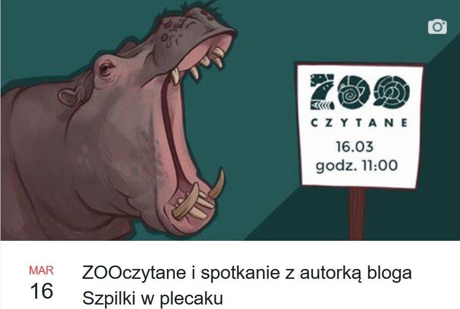 ZOOczytane i spotkanie z autorką bloga Szpilki w plecaku