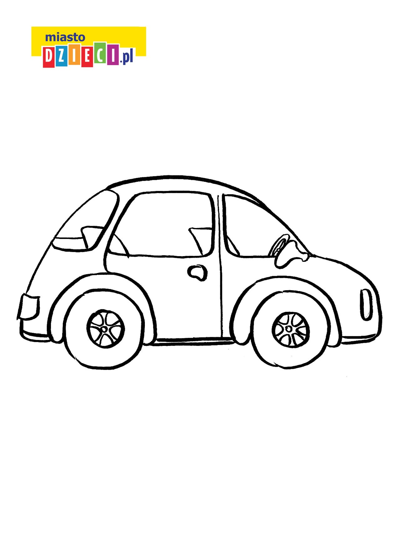 auto - kolorowanka kolorowanki i szablony do druku dla dzieci MiastoDzieci.pl