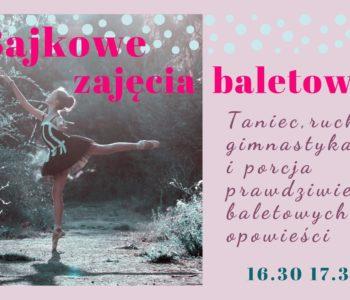 Bajkowe zajęcia baletowe w Nutka Cafe