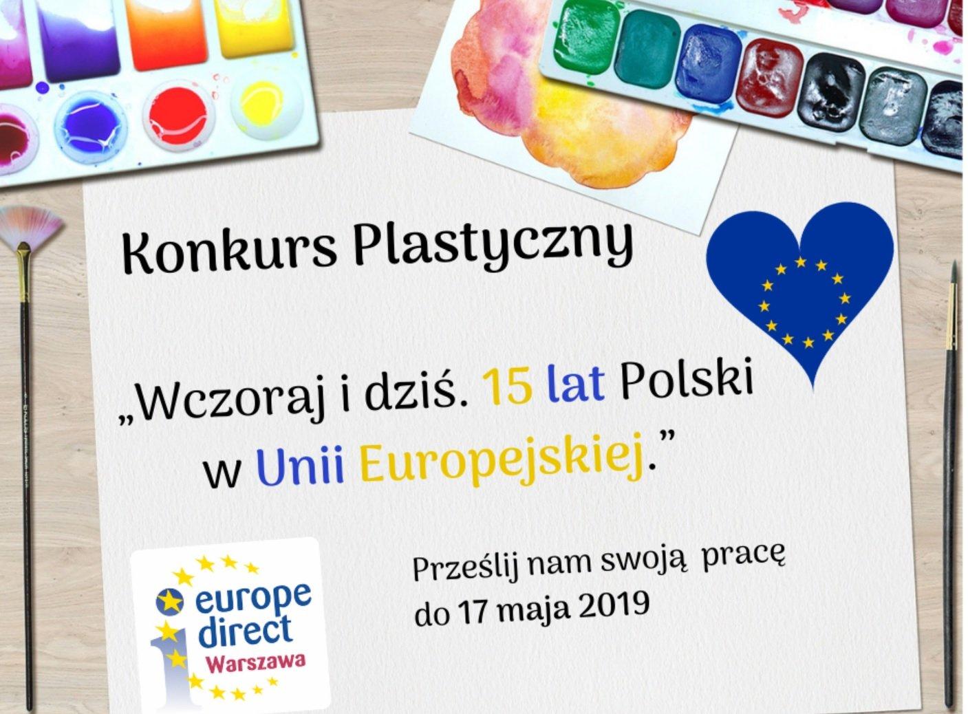 Konkurs plastyczny: Wczoraj i dziś. 15 lat Polski w Unii Europejskiej