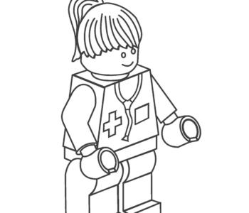 kolorowanka Lego - lekarka kolorowanki i szablony do druku dla dzieci MiastoDzieci.pl