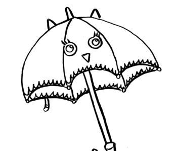parasol - kolorowanka