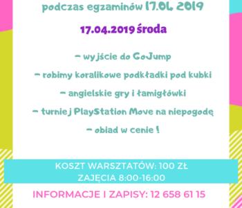 Warsztaty językowe 17 kwietnia 2019