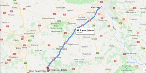 mapa tomaszow mazowiecki