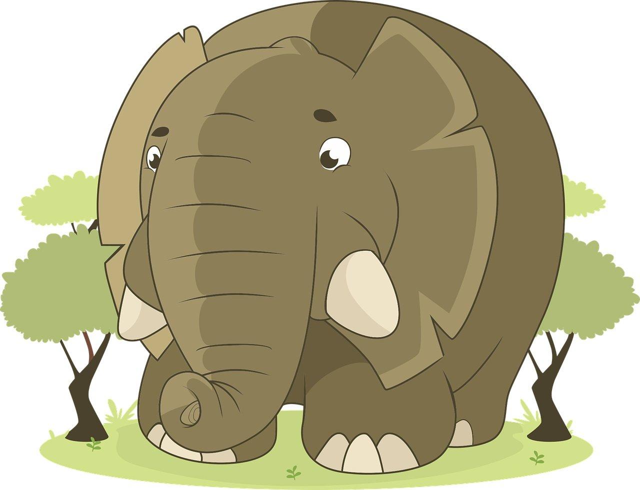 Śmieszna zagadka dla dzieci o słoniu