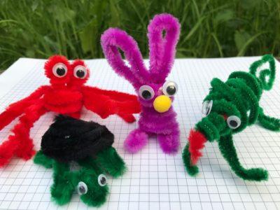 zwierzęta z drucików kreatywnych