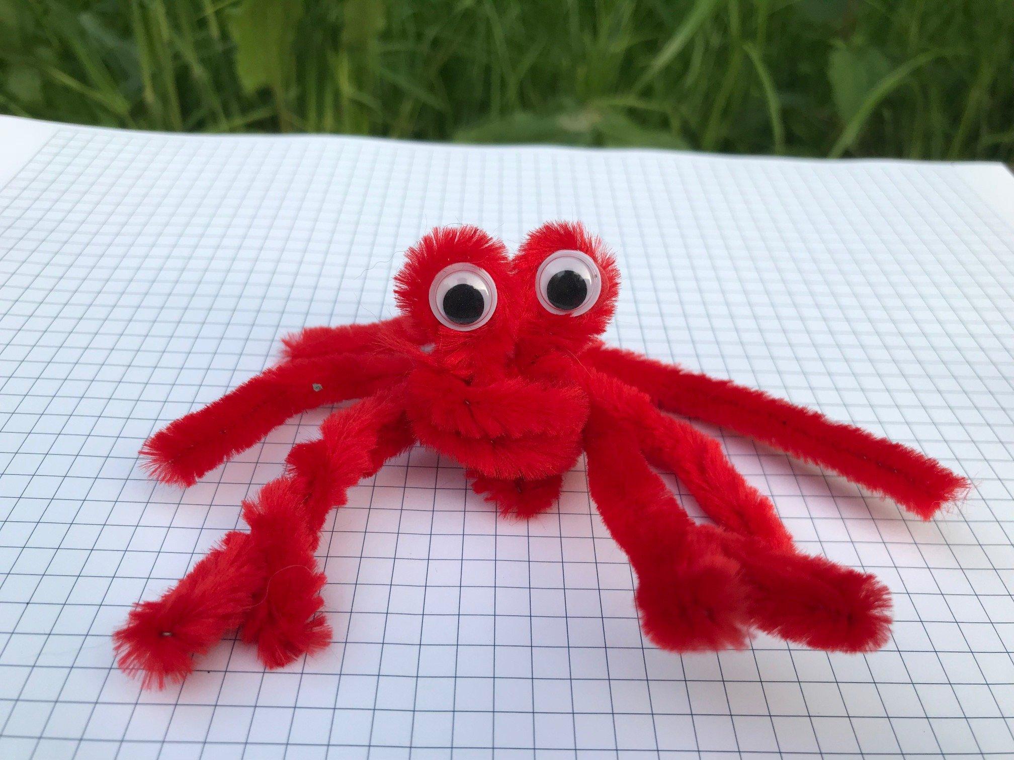 krab z drucików kreatywnych